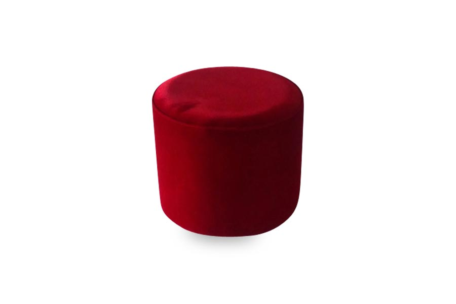 18 Quot Red Round Ottoman Lux Lounge Efr 888 247 4411