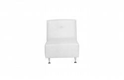 Avery Armless Chair White