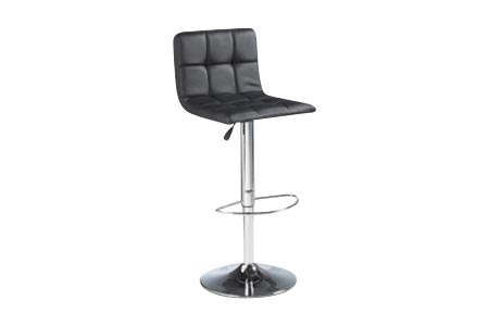 Copenhagen Adjustable Barstool Black with Tufted Seating