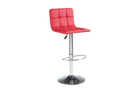 Copenhagen Adjustable Barstool in Red with leatherette seating