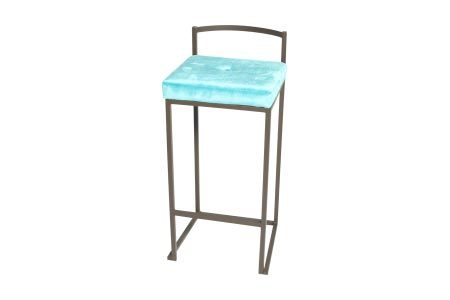 The timeless Monroe Elegance Barstool in Baby Blue