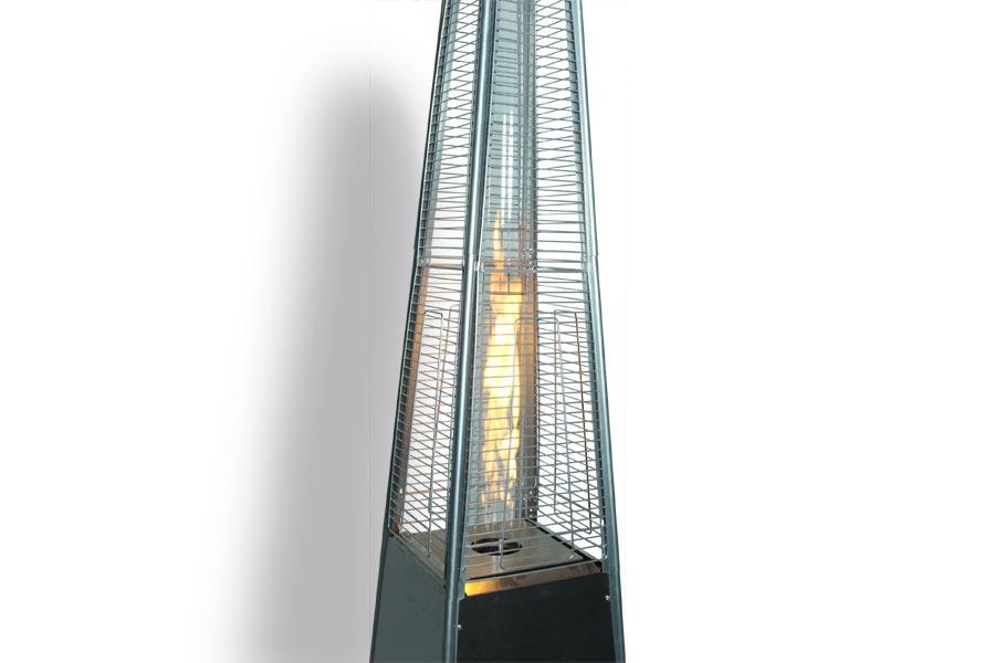 Pyramid Flame Heat Lamp