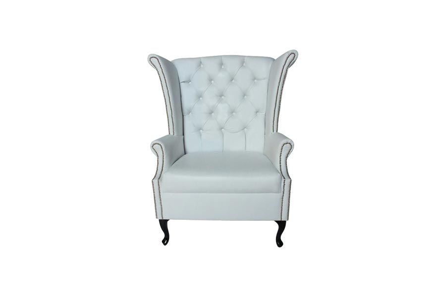 henry classic wing back chair white