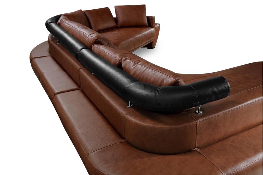 Outstanding Jupiter Sectional Brown Lux Lounge Efr 888 247 4411 Alphanode Cool Chair Designs And Ideas Alphanodeonline