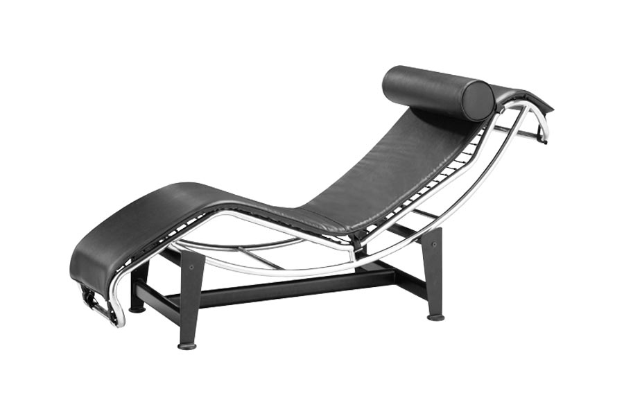le corbusier lounge chair black