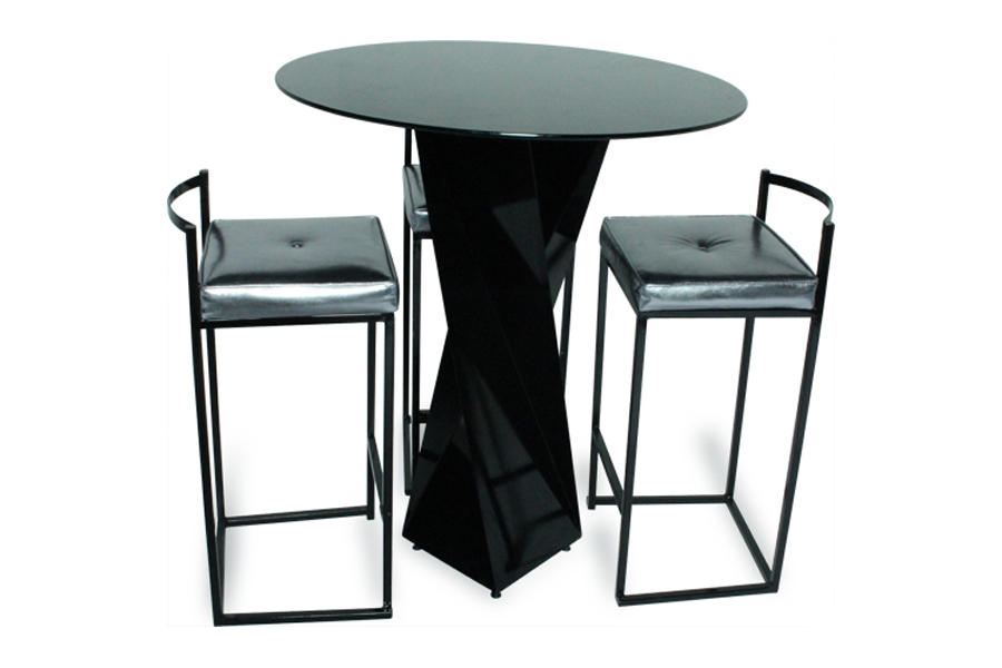 Twist cocktail high table lux lounge efr 888 247 4411 for Cocktail tables high