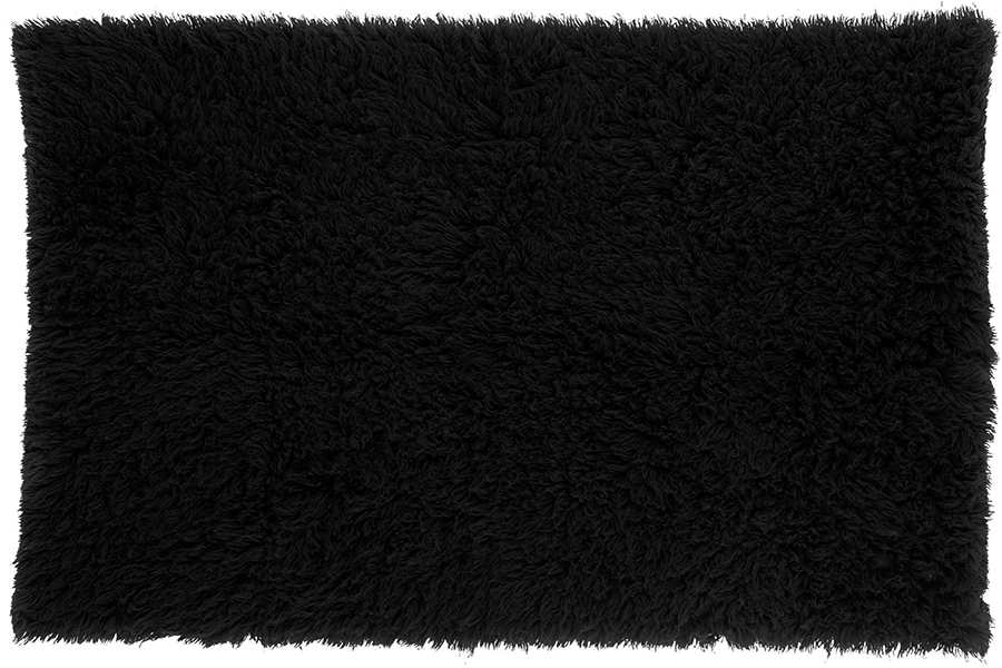 Shag Rug Black Lux Lounge EFR 888 247 4411
