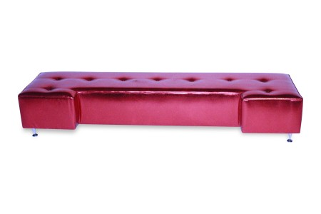 Avery Ottoman Bench Red