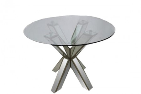 Hancock Mirrored Round Glass Dining Table