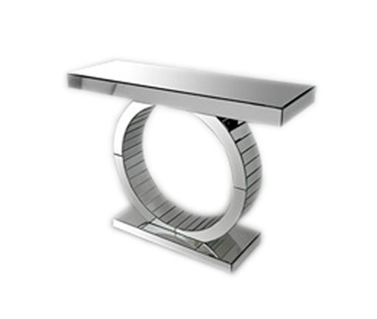 Oxim Mirrored Console Table