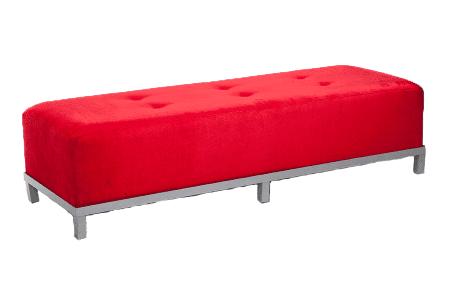 Avery-Tufted-6′-Bench-(Red-Velvet)