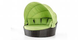 Domed Half Moon Lounge Bed (Lime)