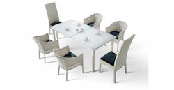 The Continental Dining Set in White