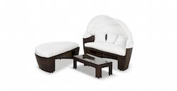 Sunny – Round Patio Day Bed With Retractable Sun Cover