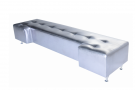 Avery Tufted 8′ Bench II (Silver Foil)