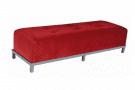 Avery Tufted 6' Bench (Red Velvet)