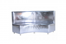 Infinite Curve High Back A Banquette (Silver Foil)