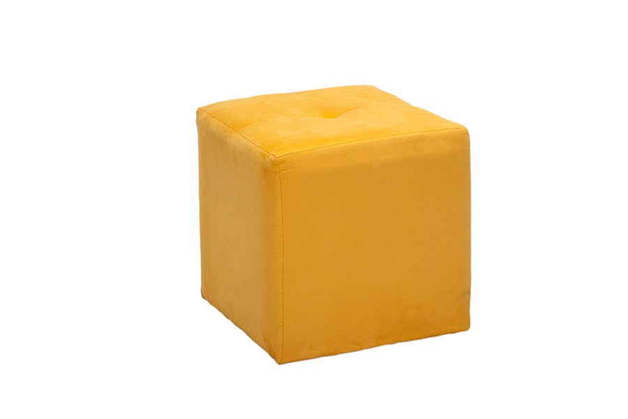 Avery Cube Seat Ultrasuede Yellow Lux Lounge Efr 888
