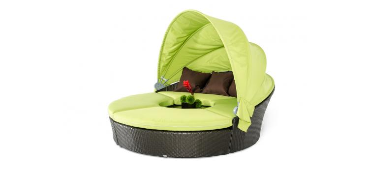 Vice Outdoor Lime Green Sofa Set W/ Canopy ...