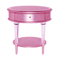 2 HARLOW SIDE TABLE PINK