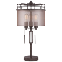 EDISON SHADE TABLE LAMP