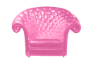 PINK GLAM METALLIC TUFTED ARM CHAIR 2