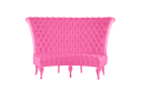 PINK STARLET TUFTED HIGH BACK CURVED BANQUETTE