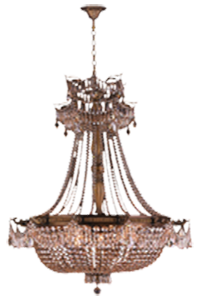 SPEAKEASY CRYSTAL CHANDELIER