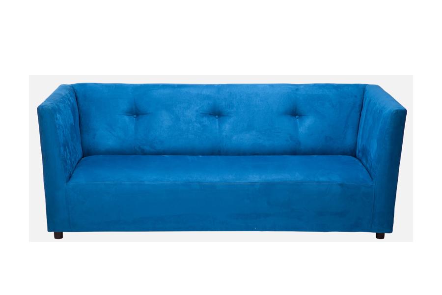 Avery Classic Sofa (Blue Ultra Suede)