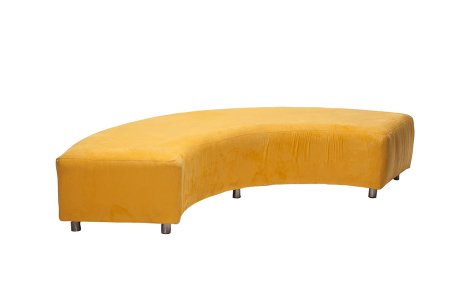Avery-Curved-Bench-Ultra-Suede-(Yellow)