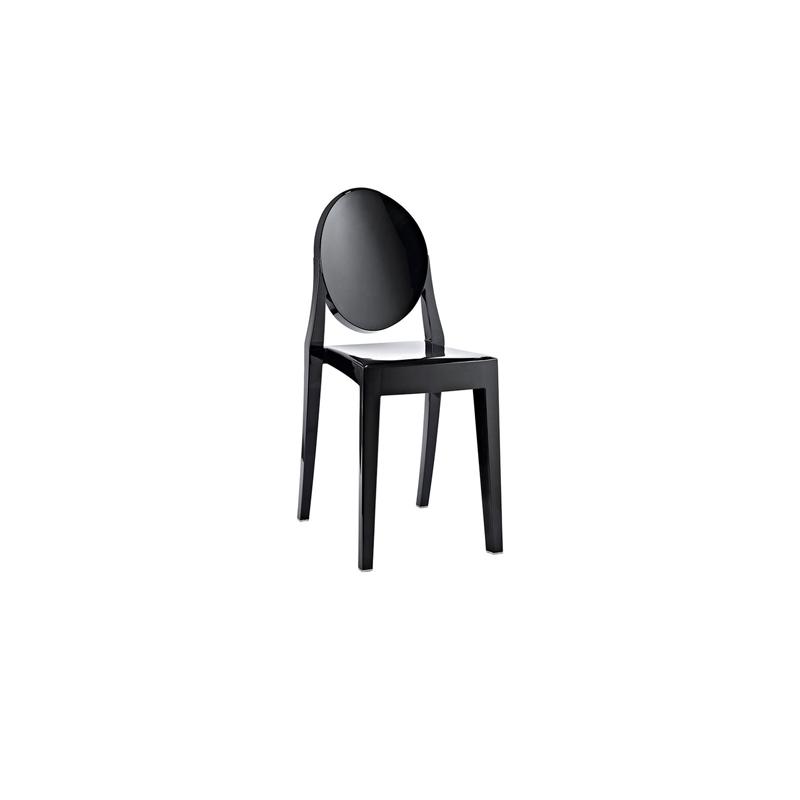 ... Ghost Armless Chair Black ...