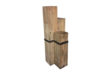Wood Staggered Pillar