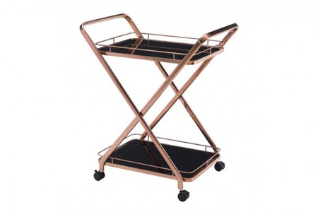 Rose Gold 2 tray serving cart