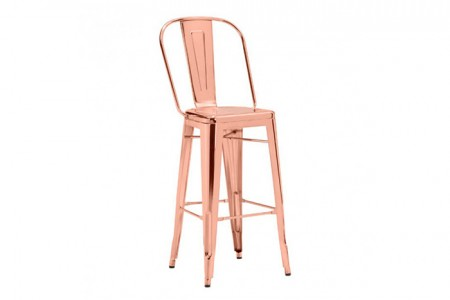 Rose Gold Highback barstool