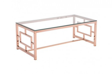 LATTICE-COFFEE-TABLE-ROSE GOLD