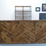 Herringbone 8' Bar and Industrial Open Shelf