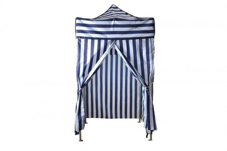Cabana blue and white stripe 1