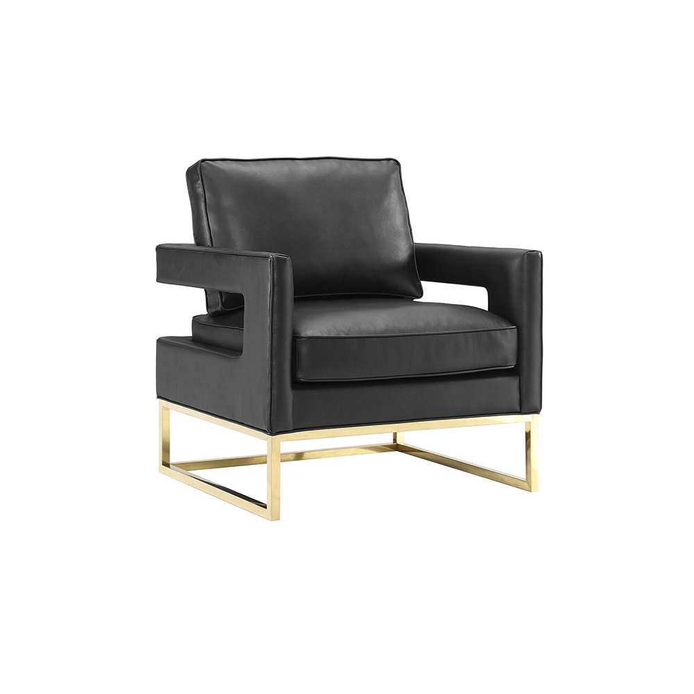 Gable Black Leather Chair Lux Lounge Efr 888 247 4411