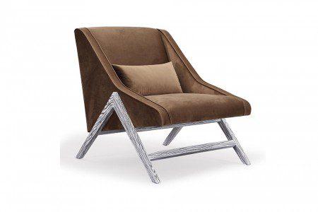 Montgomery Brown Velvet Chair