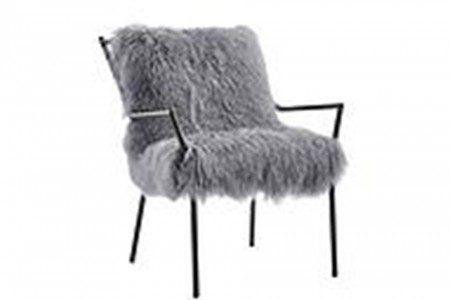 Wayne Grey Sheepskin Chair
