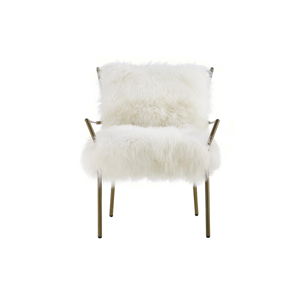 WayneChairWhite  sc 1 st  Lux Lounge EFR & Taylor Puff Chair with Rose Gold Base u2022 Lux Lounge EFR (888) 247-4411