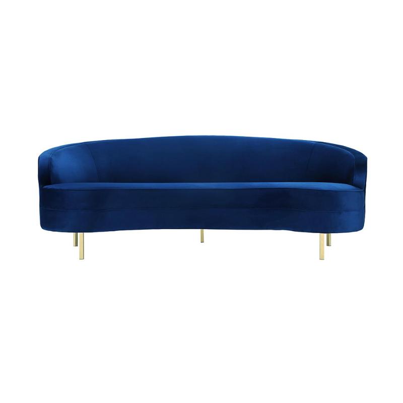 Navy Velvet Sofa Lux Lounge Efr 888