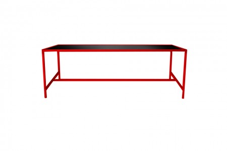 Metro Dining Table Red-Black