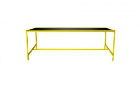 Metro Dining Table Yellow-Black