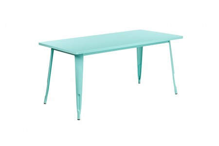 Turquoise Farmers dining table
