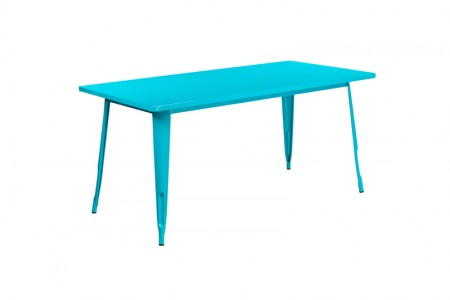 teal Farmers dining table
