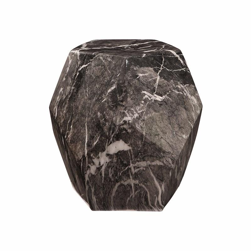 Black Marble Ceramic Garden Stool Luxury Event Furniture