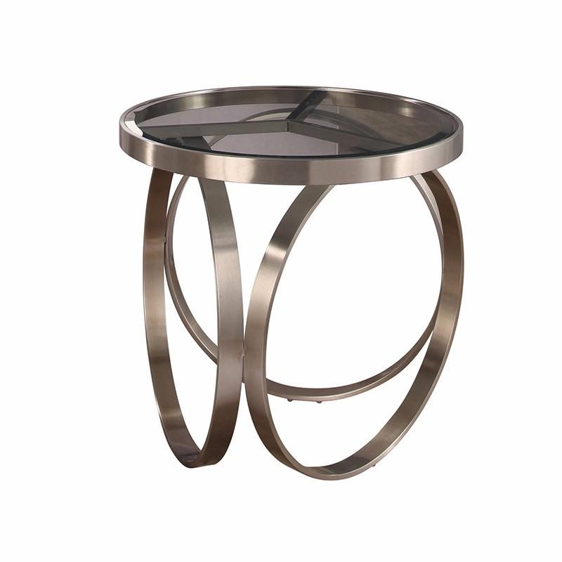 Dayira Side Table (Silver)