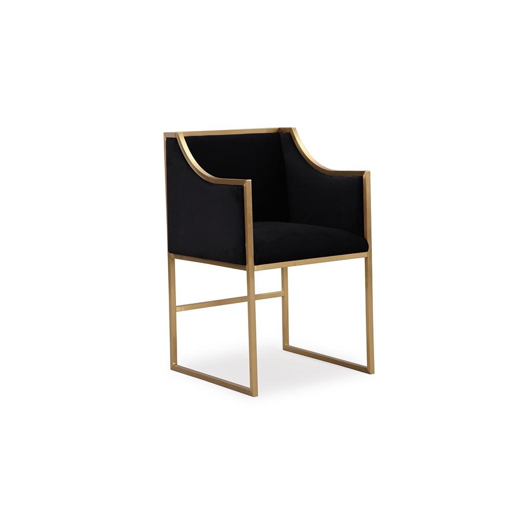 Metropolitan Velvet Chaise Black Lux Lounge Efr 888