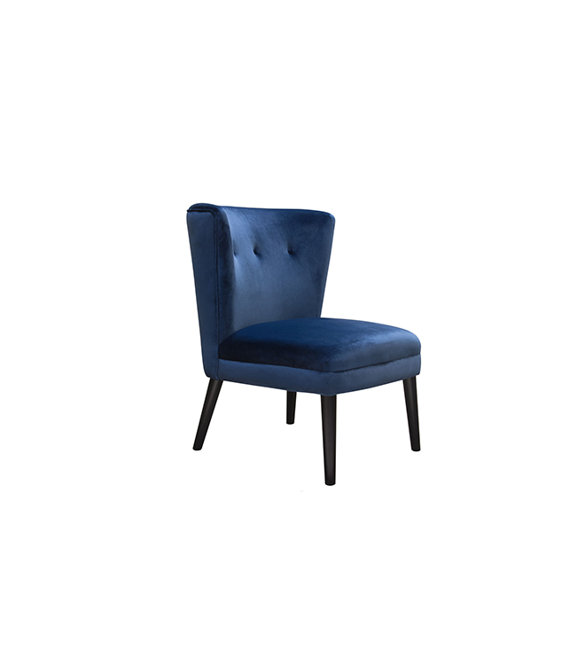 Harlow Chair Blue Lux Lounge Efr 888 247 4411